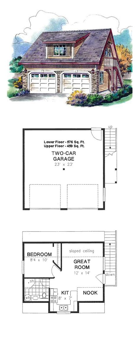 garage plans with living area garage apartment plan 58563 total living area 459 sq