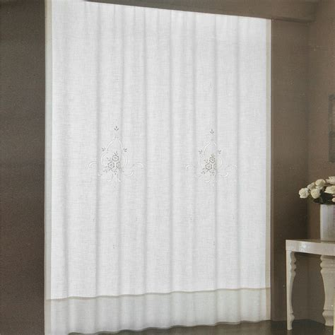 tende misto lino pannello tenda ricamata misto lino 230x300 cm dis 6880