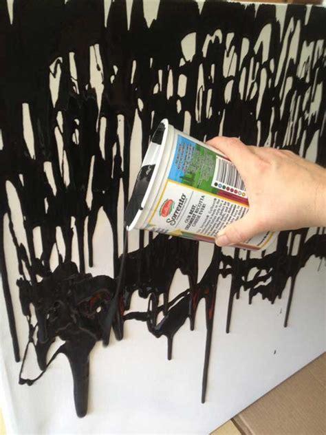 make this: easy DIY paint drip wall art