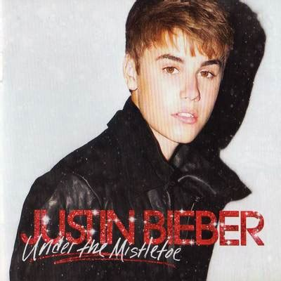 mistletoe justin bieber justin bieber under the mistletoe my album cover