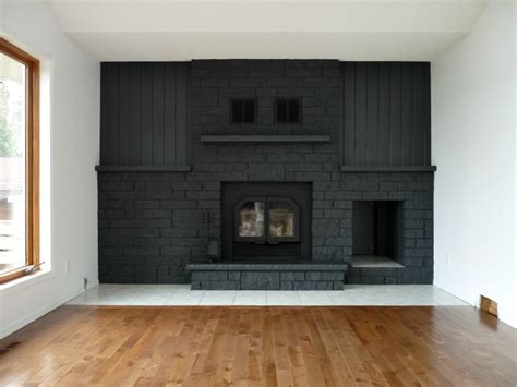 Hometalk   Charcoal Grey Painted Fireplace