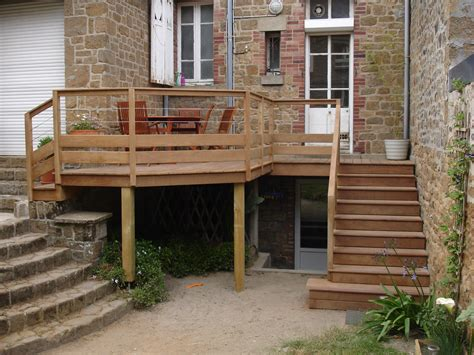 Terrasse En Bois Suspendu terrasse suspendue bois composite