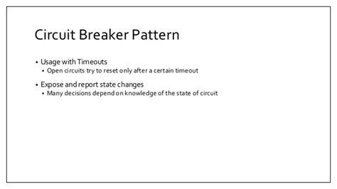 video pattern breaker circuit breaker pattern with hystrix