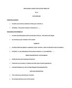 provisional patent template application template 10 free word pdf documents