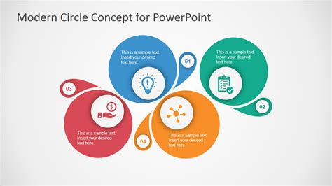 design concept presentation template modern circle concept design for powerpoint slidemodel