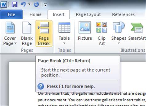 section break word 2010 insert next page section break microsoft word 2010