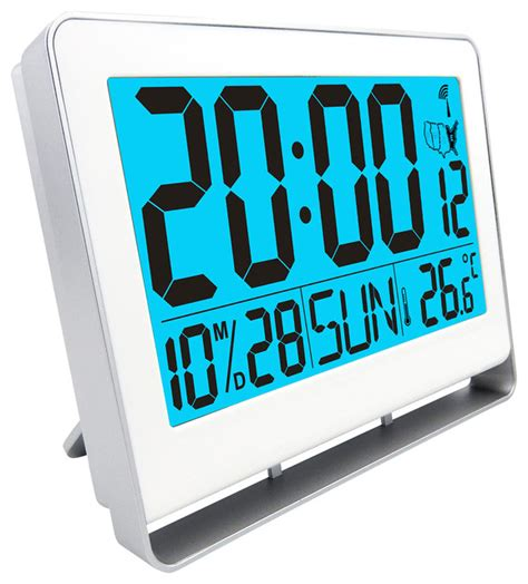 atomic lcd alarm clock contemporary alarm clocks