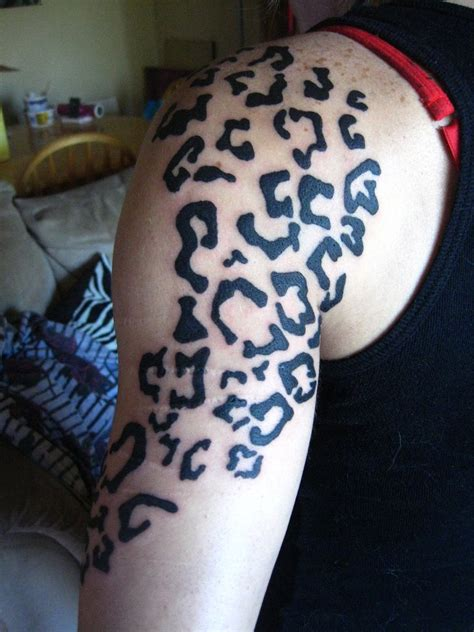 animal print tattoos leopard print by missperple on deviantart