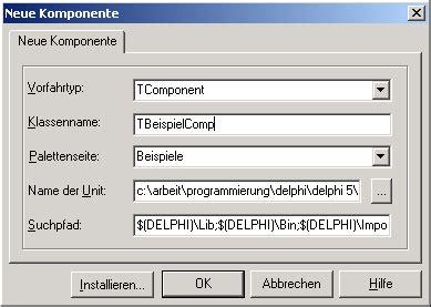 delphi vcl tutorial komponenten entwicklen delphi treff
