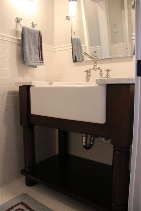 farmhouse bathroom sinks the granite gurus faq friday farmhouse sink in the bathroom