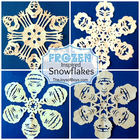 frozen snowflakes inspired by disney s frozen the joys
