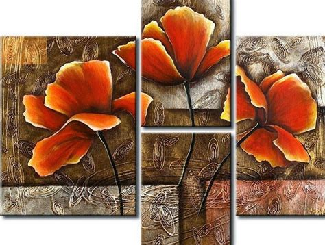 cuadros al oleo de flores modernos cuadros de flores modernos tripticos arte floral
