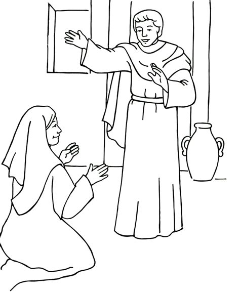 free coloring pages angel and mary pin elia colouring pages on pinterest