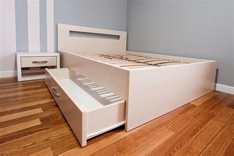 Bed With Drawer by How To Build Bed Drawers Ebay