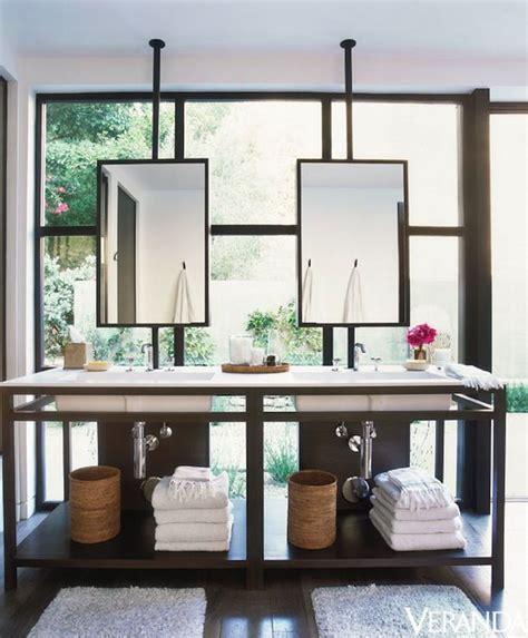 ceiling mounted bathroom mirrors veranda bathrooms vanity in front of window bathroom