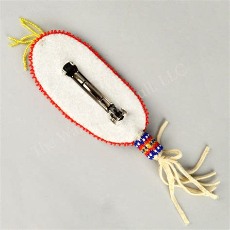 beaded feathers barrette beaded feather wandering bull american shop