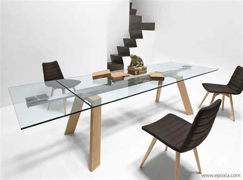 table salle a manger verre table en verre extensible table de salle a manger design