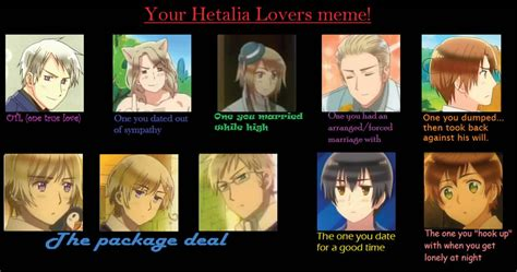 your hetalia lovers meme by mizu1993 on deviantart