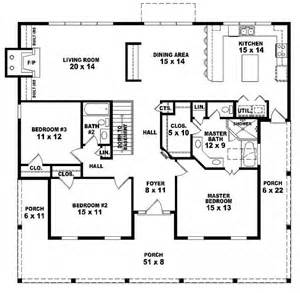3 bedroom 2 story house plans 654173 one story 3 bedroom 2 bath country style house