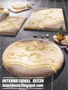 bathroom rug sets yellow
