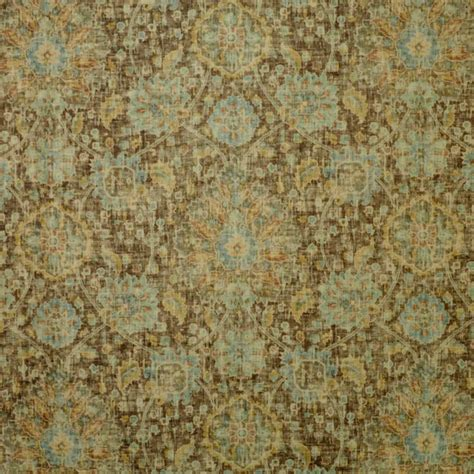 p kaufmann upholstery fabric sariz saddle tan washed look printed floral velvet