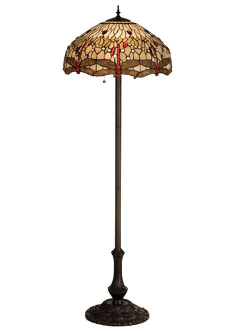 Discontinued Ceiling Fans by Meyda 17473 Tiffany Hanginghead Dragonfly Floor Lamp