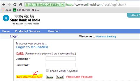 how to login for time activate banking in sbi