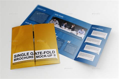 single fold brochure template single gate fold brochure mock up 2 by massdream