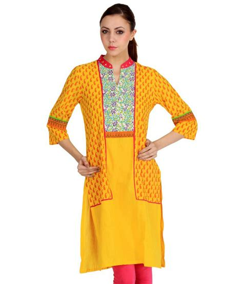 yellow kurti pattern rabbitfoot designs yellow kurti buy rabbitfoot designs
