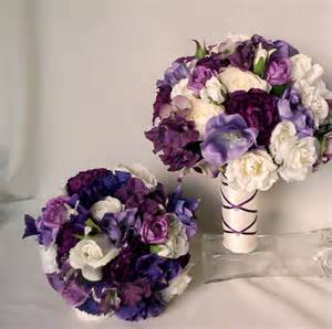 artificial wedding bouquets items similar to purple bridal bouquet silk wedding flowers bridal accessories artificial