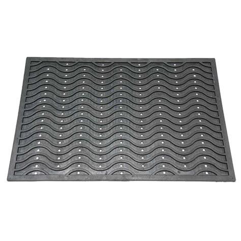 dura scraper wave rubber door mat