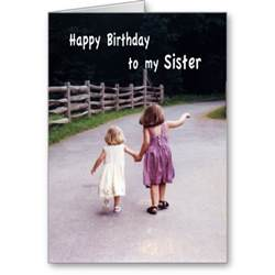 happy birthday to my sister greeting card