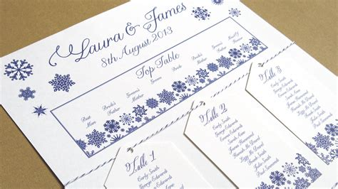 Table Seating Name Cards Template by I M Dreaming Of A White Wedding With Every Snowflake Name