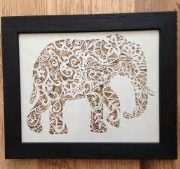 Paper Cutting Design Templates by Elephant Papercut Template Cut Your Own Safari