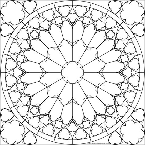 mandala stained glass coloring books flower mandala picture to color stained glass window
