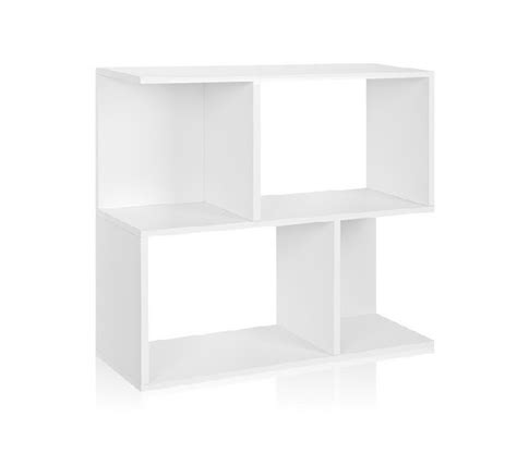 stack bookshelf white way basics college