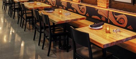 The Table Restaurant Wood Tops For Restaurants And Bars Elmwood Reclaimed Timber