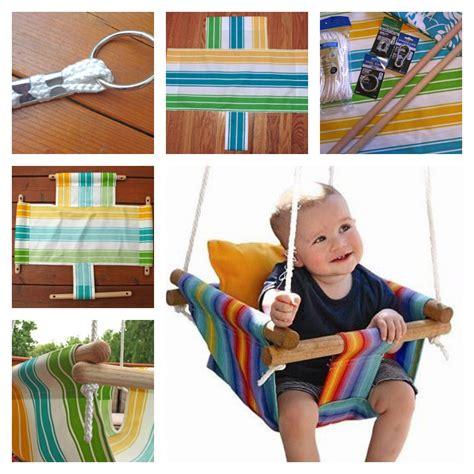 diy outdoor baby swing diy baby canvas swings