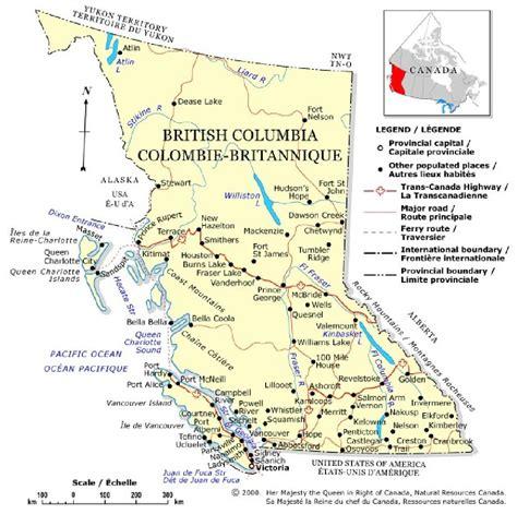Road Map Of Bc Interior by Inzana Lake Lodge