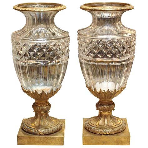 Baccarat Vases by Pair Of Baccarat Vases With Gilt Bronze Mounts At 1stdibs