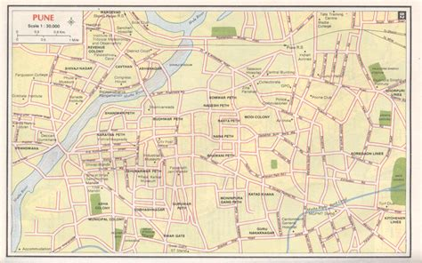 city map of pune pune city map pune india mappery