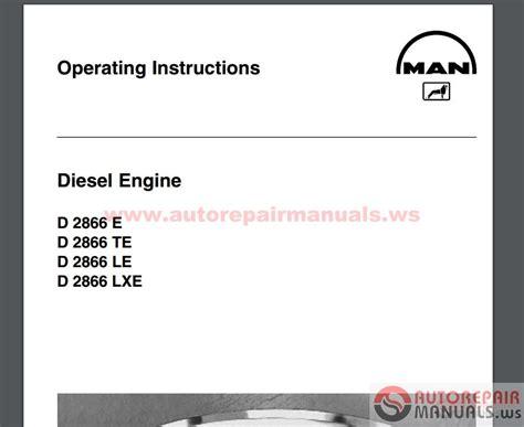 man engines service manuals  full auto repair manual forum heavy equipment forums