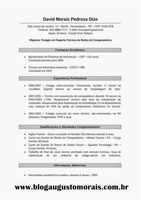 Modelo Curriculum Tradicional Veja Todas As Dicas Baseadas Em Um Modelo De Curr 237 Culo Tradicional E Elabore O Seu Para