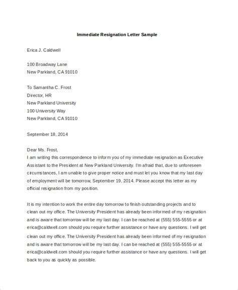 sample letters resignation ms word