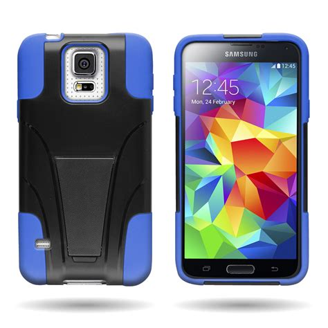 Samsung S5 Rugged by Rugged Dual Layer Protective Phone Cover For Samsung
