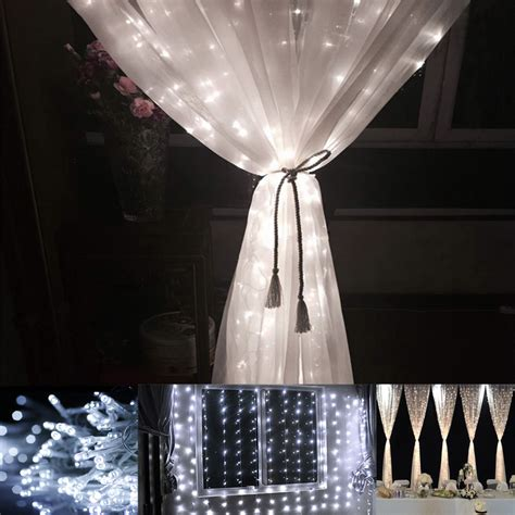 lighting curtains 9 8 9 8ft daylight white 8 modes led curtain lights for