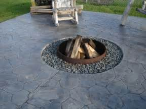 concrete patio design ideas with fire pit landscaping