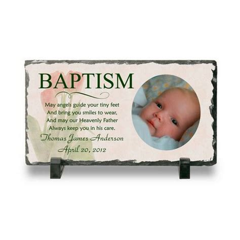 personalized baptism gifts personalized baptism photo slate plaque personalized baby baptism plaque