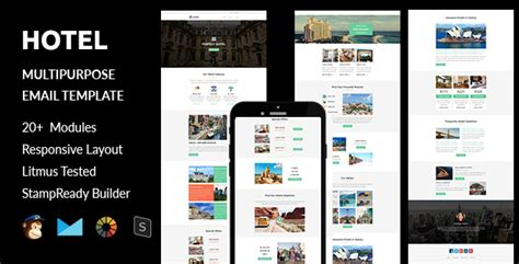 Hotel Responsive Email Template With Stready Builder Online Access By Guiwidgets Hotel Email Template