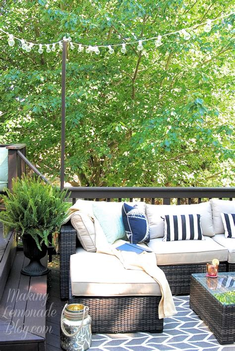 hanging deck lights how to hang outdoor string lights the deck diaries part